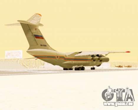 Il-76td EMERCOM de Russie pour GTA San Andreas vue de droite