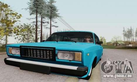 VAZ 2107 coupé pour GTA San Andreas vue intérieure
