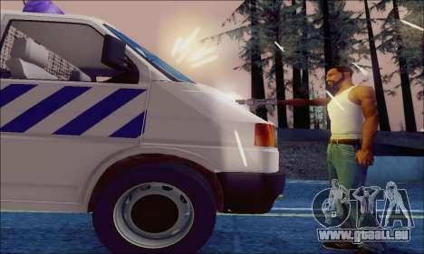 Volkswagen T4 Politie pour GTA San Andreas vue de côté