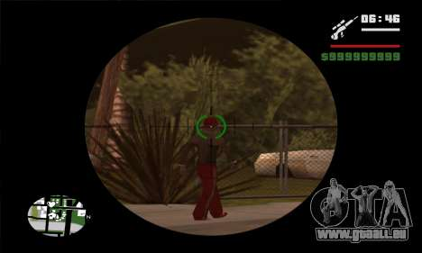 GTA V Sniper Scope für GTA San Andreas zweiten Screenshot