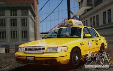 Ford Crown Victoria LA Taxi pour GTA San Andreas vue de droite