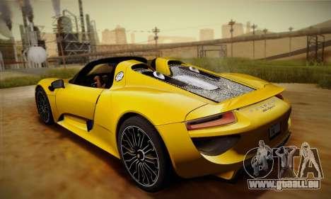 Porsche 918 Spyder 2014 für GTA San Andreas Seitenansicht