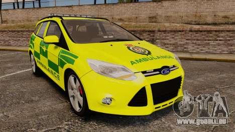 Ford Focus ST Estate 2012 [ELS] London Ambulance für GTA 4