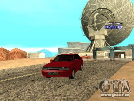 VAZ 2115 Taxi pour GTA San Andreas vue arrière