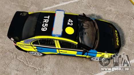 Mitsubishi Lancer Evolution X Uk Police [ELS] für GTA 4 rechte Ansicht