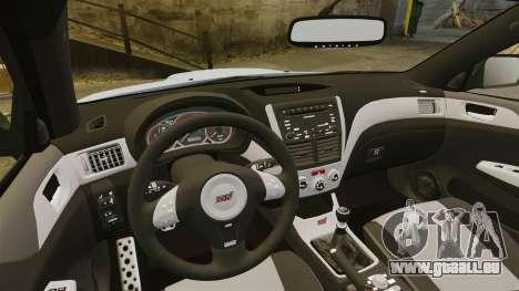 Subaru Impreza 2010 pour GTA 4 est un côté