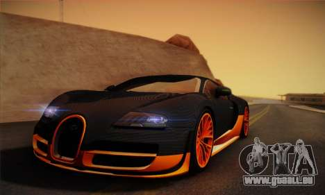 Bugatti Veyron Super Sport World Record Edition pour GTA San Andreas sur la vue arrière gauche