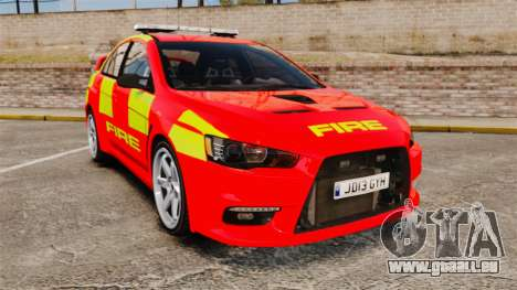 Mitsubishi Lancer Evo X Fire Department [ELS] pour GTA 4