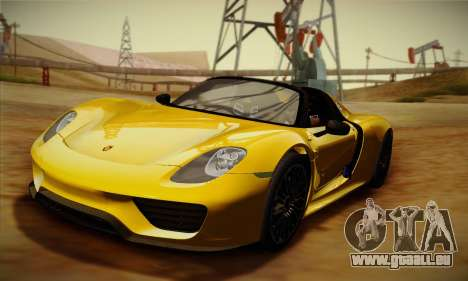 Porsche 918 Spyder 2014 für GTA San Andreas zurück linke Ansicht