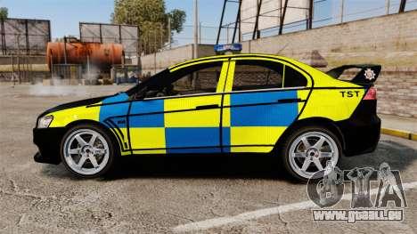 Mitsubishi Lancer Evolution X Uk Police [ELS] für GTA 4 linke Ansicht