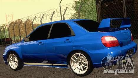 Subaru WRX STI 2004 pour GTA San Andreas laissé vue