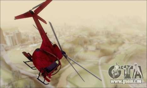 Bussard Angriff Hubschrauber von GTA 5 für GTA San Andreas rechten Ansicht