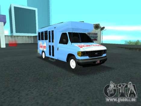Ford Shuttle Bus für GTA San Andreas Innenansicht