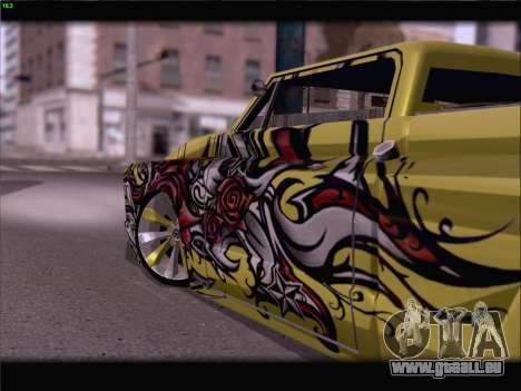 New Slamvan pour GTA San Andreas vue de dessus