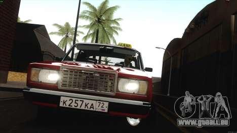 VAZ 2107 Bombilla pour GTA San Andreas vue arrière