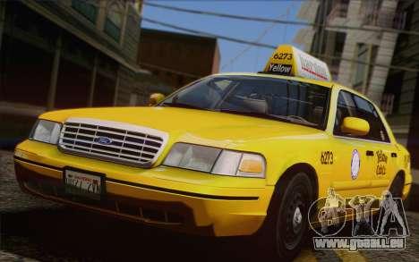 Ford Crown Victoria LA Taxi pour GTA San Andreas vue de côté
