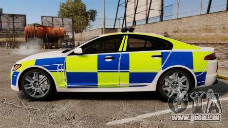 Jaguar XFR 2010 British Police [ELS] für GTA 4 linke Ansicht