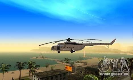MI 8 des Nations Unies (ONU) pour GTA San Andreas sur la vue arrière gauche