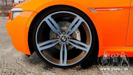 BMW M6 pour GTA 4 Vue arrière
