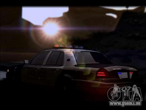 Ford Crown Victoria 2005 Police für GTA San Andreas Unteransicht