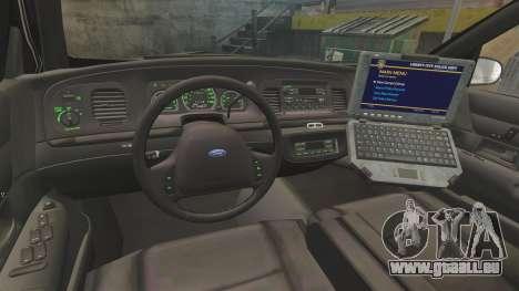 Ford Crown Victoria 1999 LCPD pour GTA 4 Vue arrière