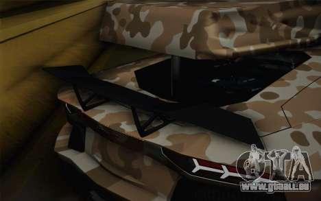 Lamborghini Aventador LP 700-4 Camouflage pour GTA San Andreas vue arrière