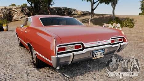 Chevrolet Impala 1967 für GTA 4 hinten links Ansicht