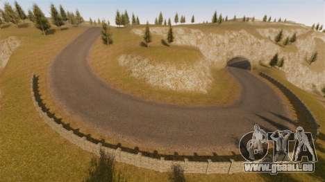 Cliffside emplacement Rallye pour GTA 4 cinquième écran