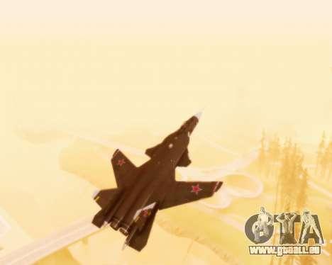 Su-47 Berkut v1.0 pour GTA San Andreas vue de dessus