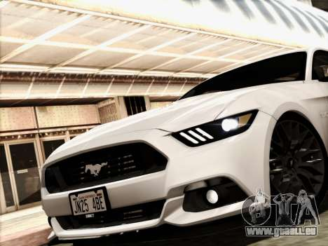 Ford Mustang GT 2015 v2 für GTA San Andreas zurück linke Ansicht