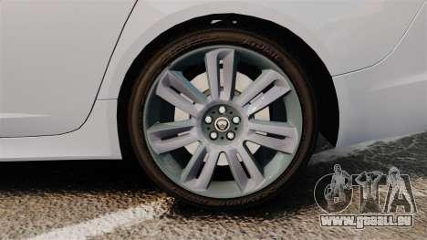 Jaguar XFR 2010 Police Unmarked [ELS] pour GTA 4 Vue arrière