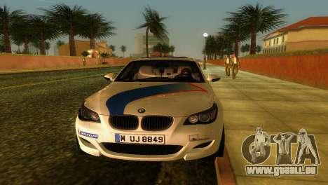 BMW M5 (E60) 2009 Nurburgring Ring Taxi für GTA Vice City Innenansicht