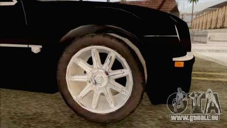Chrysler 300C pour GTA San Andreas vue de droite