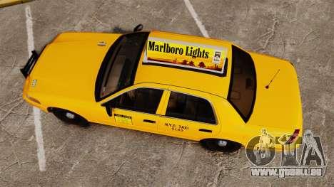 Ford Crown Victoria 1999 NY Old Taxi Design pour GTA 4 est un droit