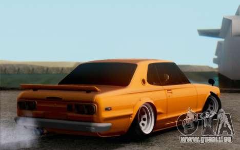 Nissan Skyline 2000GTR pour GTA San Andreas laissé vue