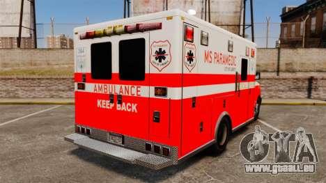 Brute Ambulance FDLC [ELS] für GTA 4 hinten links Ansicht