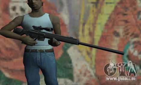 PSG-1 pour GTA San Andreas troisième écran