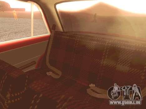 Fiat 124 pour GTA San Andreas vue de dessus