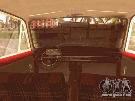 Fiat 124 pour GTA San Andreas vue intérieure