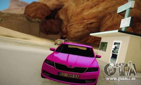 Skoda Rapid 2014 für GTA San Andreas Rückansicht