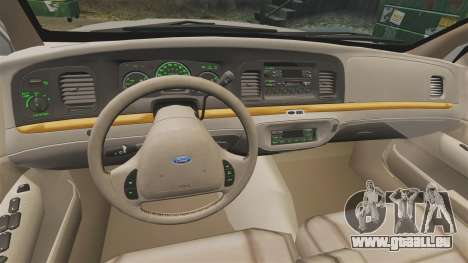 Ford Crown Victoria 1999 für GTA 4 Rückansicht