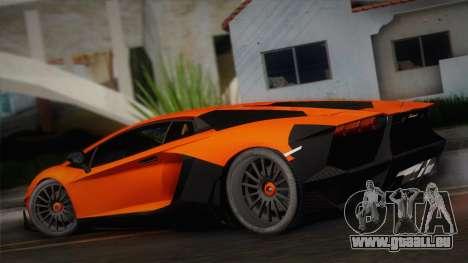 Lamborghini Aventador LP 700-4 RENM Tuning pour GTA San Andreas laissé vue