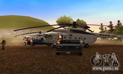 MI 8 des Nations Unies (ONU) pour GTA San Andreas laissé vue