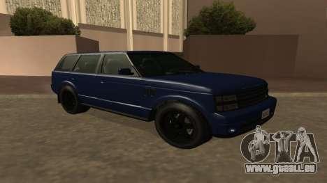 Baller GTA 5 für GTA San Andreas Rückansicht