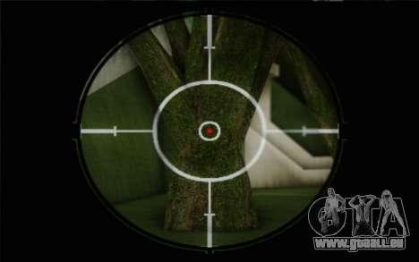 fusil 7,62 Dragunov SVD-s pour GTA San Andreas quatrième écran