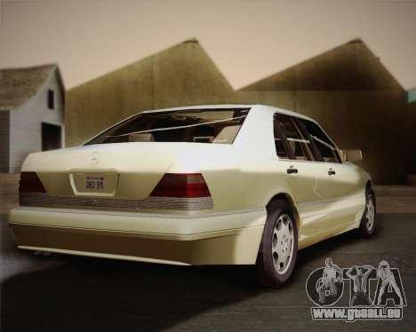 Mercedes-Benz S600 V12 Custom für GTA San Andreas Rückansicht