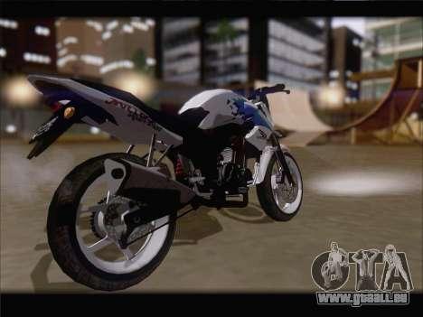Honda CB150R StreetFire pour GTA San Andreas sur la vue arrière gauche