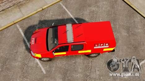 Toyota Hilux London Fire Brigade [ELS] für GTA 4 rechte Ansicht