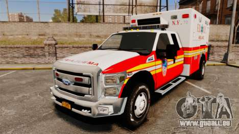 Ford F-350 2013 FDNY Ambulance [ELS] für GTA 4