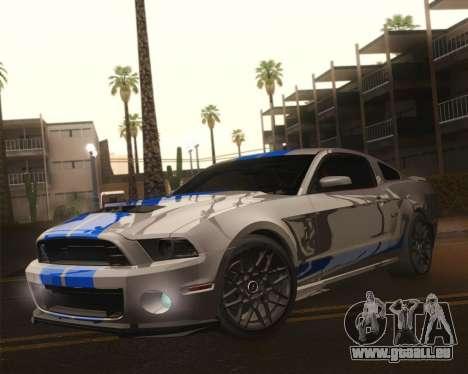 Ford Shelby GT500 2013 pour GTA San Andreas vue de dessous